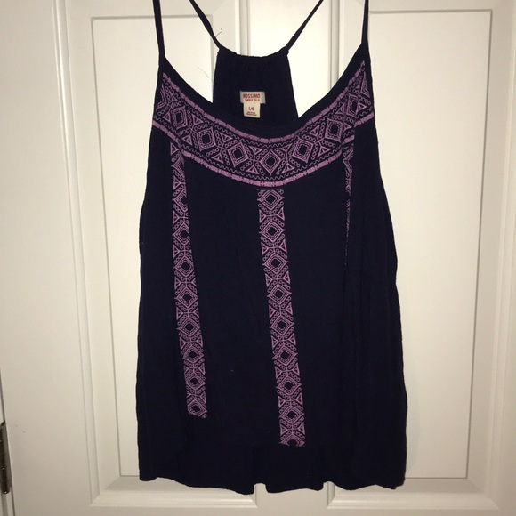 35ebdb909a Mossimo Supply Co. Tops | Target Blue And Purple Loose Tank Top ...